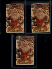 LOT OF 3 Santa Clause Phone Cards Limited Edition 5000 USA Card 1994 $5