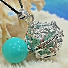 Angel Caller Harmony Chime Ball & Aromatherapy Diffuser Necklace Lava  Turquoise