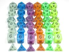 Entire Frost Collection - NEW RPG Dice SIX Sets of 7 (blue,white,purple, green..