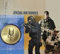 AUSTRALIAN ARMY SPECIAL AIR SERVICE REGIMENT 50TH ANNIVERSARY $1 PNC COIN 2007
