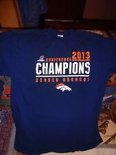 DENVER BRONCOS 2013 CONFERENCE CHAMPIONS BRAND NEW XL T-SHIRT IN NAVY BLUE