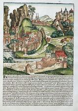 UNGARN HUNGARIA PANNONIA ANSICHT SCHEDEL WELTCHRONIK INKUNABEL KOBERGER 1493