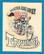 """VINTAGE ORIGINAL 1967 ED ROTH """"TRIUMPH--THE ACTION GUYS BIKE!"""" WATER DECAL ART"""