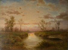 Albert Rieger (1834 Triest - 1905 Wien)  Abendstimmung.