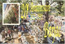 BARJAC carte-postale 38 ° FOIRE AUX ANTIQUITE BROCANTE 1992