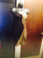 Gold And Black Sleeveless Bodycon Arden B Dress - Nwt Medium