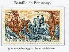 STAMP / TIMBRE FRANCE OBLITERE N° 1657 BATAILLE DE FONTENOY