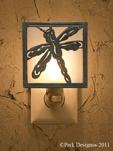 Dragonfly Metal Green Patina Night Light ~ by Park Designs
