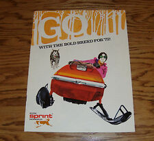 Original 1972 Bolens Sprint Snowmobile Sales Brochure 72 84/440 83/440 83/433