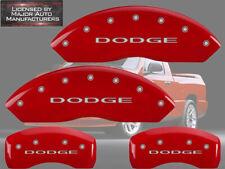 "2006-2010 ""Dodge"" Ram 1500 Front + Rear Red MGP Brake Disc Caliper Covers 4p Set"