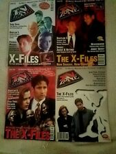 4 Cult Television Magazines TV ZONE X-Files on the Cover