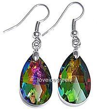 ...Faceted Teardrops Crystal Glass Beads Drop Dangle Earrings Earwires Ear Hooks