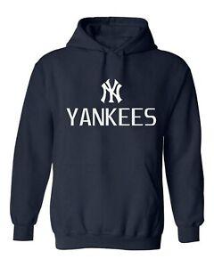 New York YANKEES MLB Horizontal Hoodie NY Yankees Hoodie Blue  S-3XL