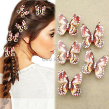 5x Red Butterfly Rasta Mambo Bead Dreadlocks Dread Braid Hair Dress Clip Pin W3