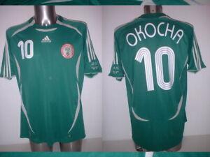 Nigeria Okocha 2006 XL Shirt Jersey Soccer Adidas Vintage Home Top Africa Bolton