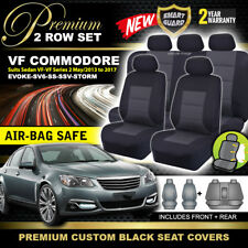 Premium Black VF Commodore Sedan Seat Covers 2ROW SET SS SSV SV6 EVOKE 6/2013-18