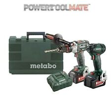 Metabo COMBOLTXBL4.0 18V 2x4.0Ah Brushless Combi and Impact Driver Twin Kit