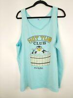 VTG Sea World Men's Blue Hot Tub Club 1986 Tank Top T-Shirt Size XL