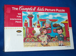 Campbells Kids Picture Puzzle by Jaymar NEW Sealed Vintage Train