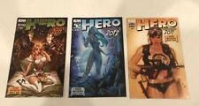 LOT OF 3 HERO COMICS 2011, 2012  IDW  J SCOTT CAMPBELL / ADAM HUGHES COVERS TMNT