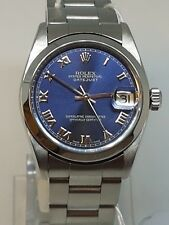 Rolex Datejust Lady 31mm Stainless Steel Blue Dial 78240 Oyster - WATCH CHEST