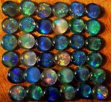 OPAL TRIPLETS FOR STUDS OR EARRINGS 36 of 5 mm CABOCHONS 16 carats AUSTRALIA