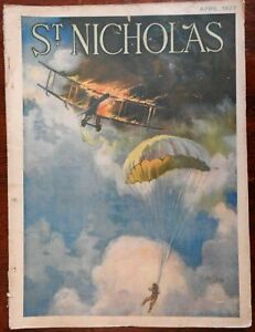 Aviation cover 1927 illustrated children's St. Nicholas Magazine advertising