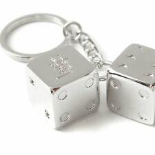 Stussy Metal Dice Keychain