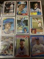 Robin Yount Milwaukee Brewers 9 Card Lot
