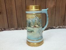 Beautiful Hand Painted Tall Beer Stein, Artist Sgnd,