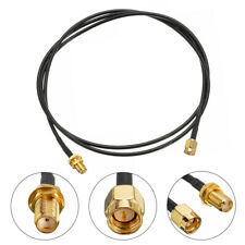 SMA Male T Female Adapter Pigtail Coaxial Jumper Extension Cable Cord Wire 1M