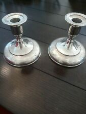 Wilcox Silver Plate Company Normandie Candle Stick Holders 1910-1940's