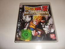 PLAYSTATION 3 PS 3 ps3 DRAGONBALL Z-Burst Limit