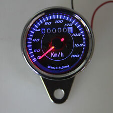 Universal Motorcycle Odometer Speedometer Gauge LED Backlight Black 0-180 Km/h