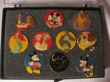Disney Channel 10th Anniversary 10 Piece Pin Set 1983-1993 In Display Case dp124