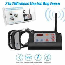 2 In 1 Wireless Electric Dog Fence 4 Working Modes Training Collars Waterproofs