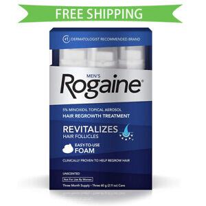 Rogaine Foam Hair Loss & Regrowth Treatment 5% Minoxidil - Multi Month Supply