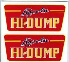 Lincoln Toys Hi - Dump Replacement Decal Set 2
