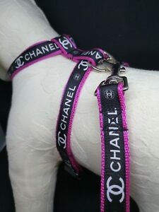 """Dog Harness and Lead Set 8.5"""" - 12"""" neck size made in England"""