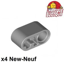 Lego Technic - 4x Liftarm 1x2 axle axe hole gris/light bluish gray 60483 NEUF