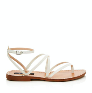 Aqua Women's Sand Strappy Thong Sandals White 5.5 New Bloomingdale's Exclusive