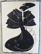 "Vintage Aubrey Beardsley Art Print on Canvas 16""x21"""