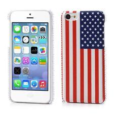 USA Flag BACK Cover Custodia Protezione Rigida + PELLICOLA per iPhone 5C COLOR