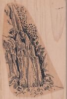 "waterfall rubberstamp inc. Wood Mounted Rubber Stamp 2 1/2 x 3 1/2""  Free Ship"