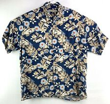 Munsingwear Men's L Short Sleeve Button Hawaiian Camp Shirt Auto Racing 1956