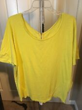 Lane Bryant Yellow Shirt with Zipper  In The Back Size 14/16