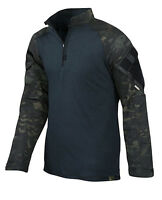 TRU-SPEC 2539 Multicam Black Camo 1/4 Zip Military Combat Shirt - FREE SHIPPING