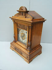 "Antique Mahogany mantel clock chiming Junghans B06 19"" high  has to be seen  M4"