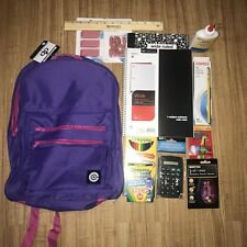 BACk To SCHOOL SUPPLY ESSENTIALS Backpack BUNDLE Grades K-8,