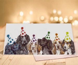 Single Luxury Long Cocker Spaniel Birthday Card Gift/Present Greeting Dog